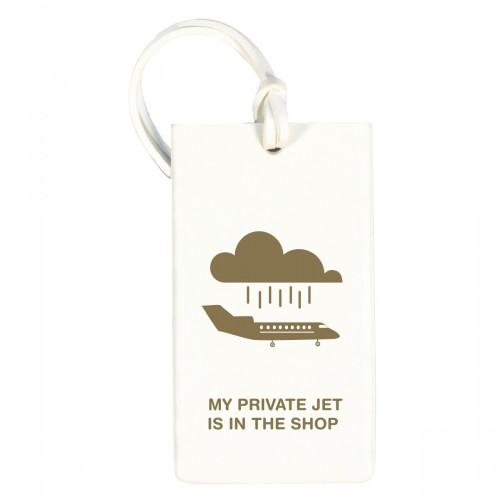 ≪SOLID RUBER TAG Private Jet≫ ラゲージタグ スーツケースタグ ホワイト / 50223-06