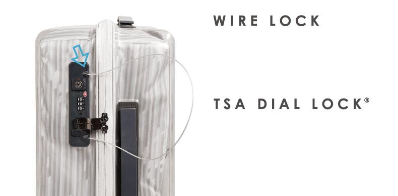 WIRE LOCK TSA DIAL LOCK